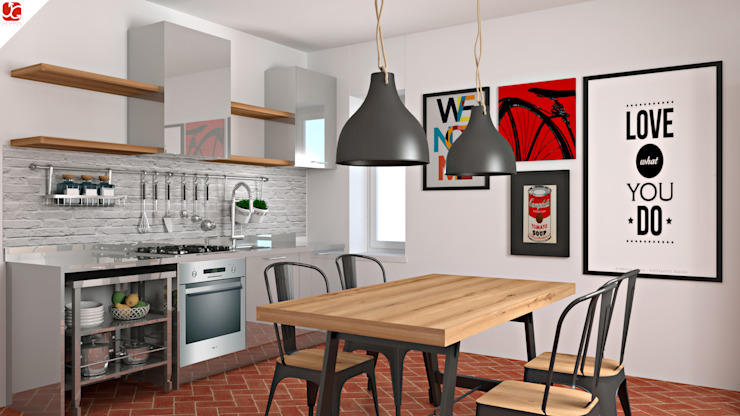 Industrial style kitchen by OGARREDO Industrial Iron/Steel