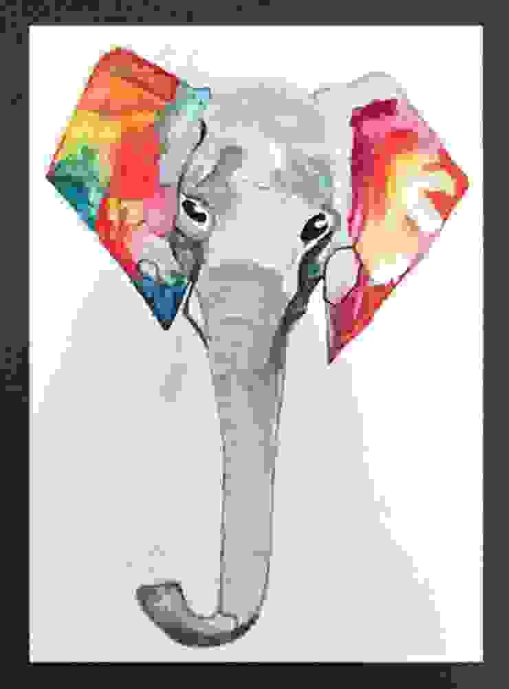 PAINTBYMGB – elephant: modern tarz , Modern