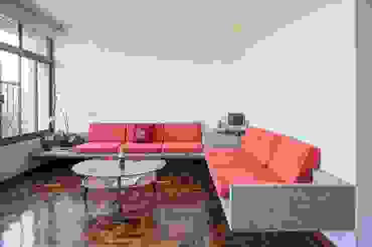 Apartamento Brasilia Salas de estar modernas por LAB606 Moderno
