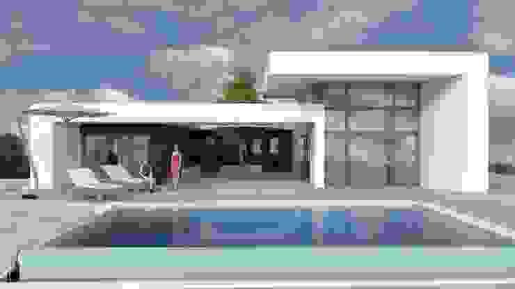 MANDARINAS DYOV STUDIO Arquitectura, Concepto Passivhaus Mediterraneo 653 77 38 06 Casas de estilo moderno Madera Blanco