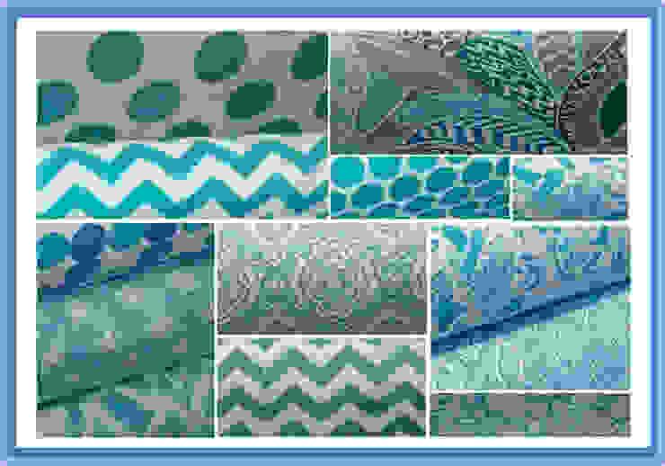 Textiles en color Aqua de NBe DECO Mediterráneo