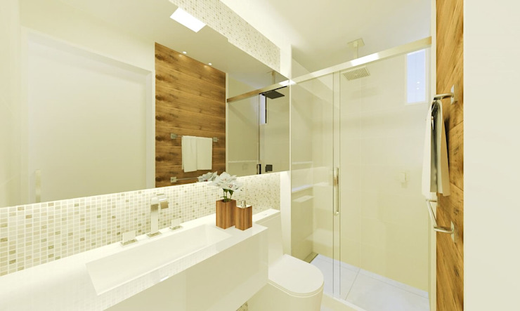 Modern style bathrooms by Isadora Cabral Arquitetura Modern