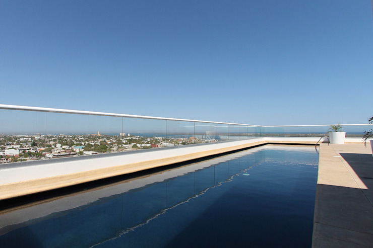 Downtown La Paz Albercas modernas de ARCO Arquitectura Contemporánea Moderno