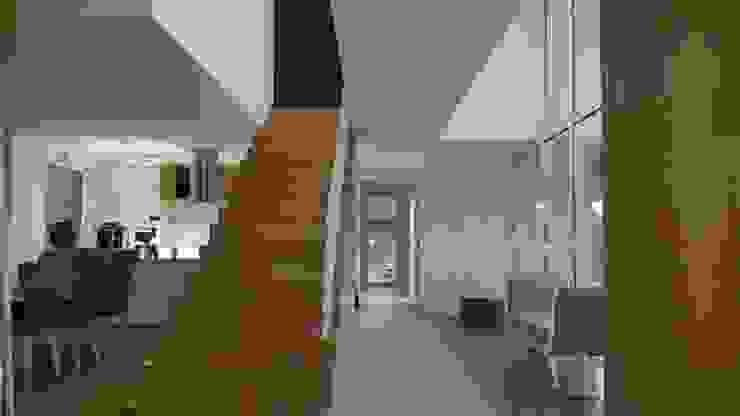 Minimalistischer Flur, Diele & Treppenhaus von Hugo Pereira Arquitetos Minimalistisch