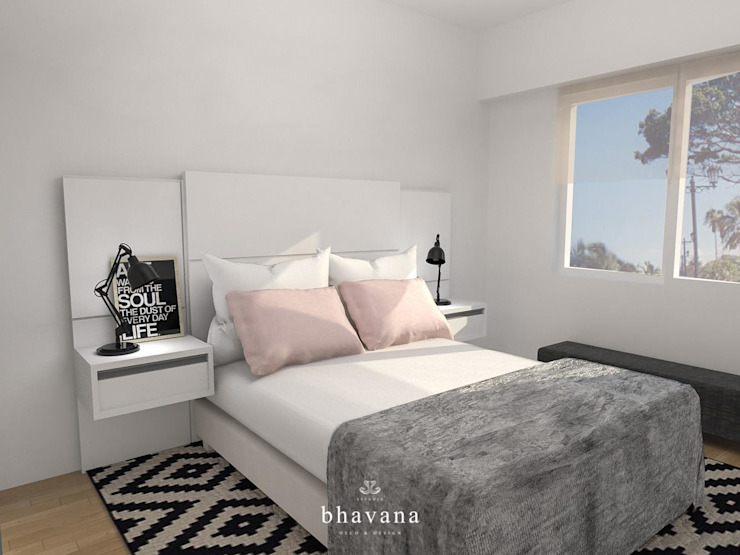 Scandinavian style bedroom by Bhavana Scandinavian