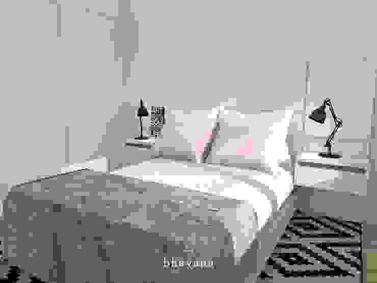 Habitación Dormitorios de estilo escandinavo de Bhavana Escandinavo
