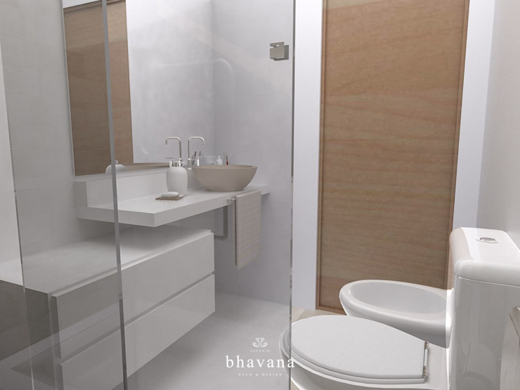 Scandinavian style bathroom by Bhavana Scandinavian
