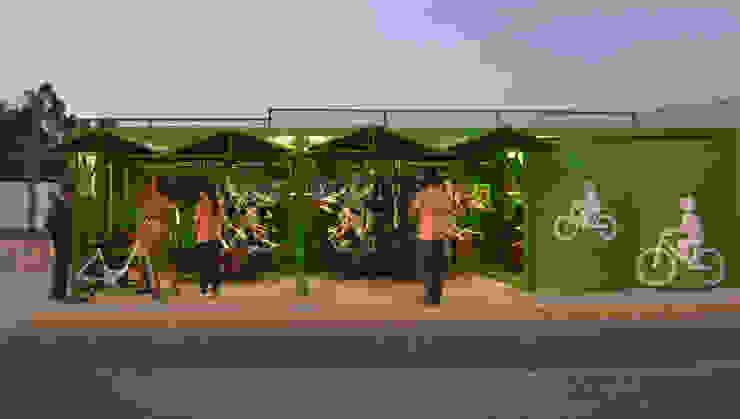 Carrusel en Kiosco para bicis de Diseño Neko Moderno