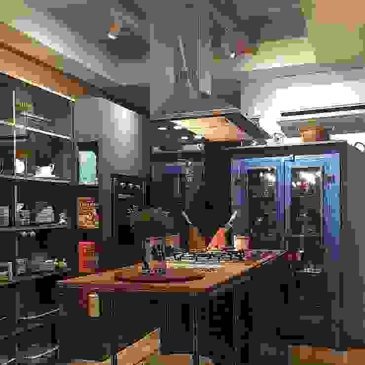 Cozinha Gourmet Cozinhas ecléticas por Roberta Dassi Arquitetura Eclético Madeira Efeito de madeira