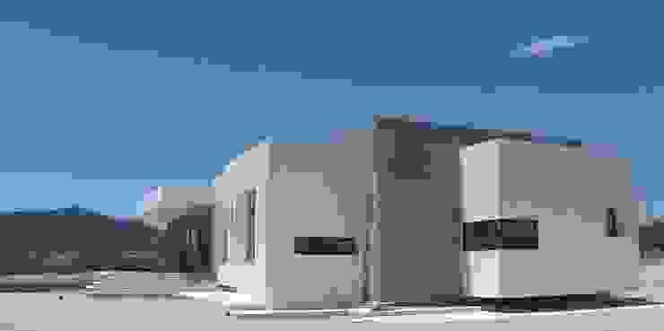 Fachada NorEste. Casas de estilo minimalista de DYOV STUDIO Arquitectura, Concepto Passivhaus Mediterraneo 653 77 38 06 Minimalista