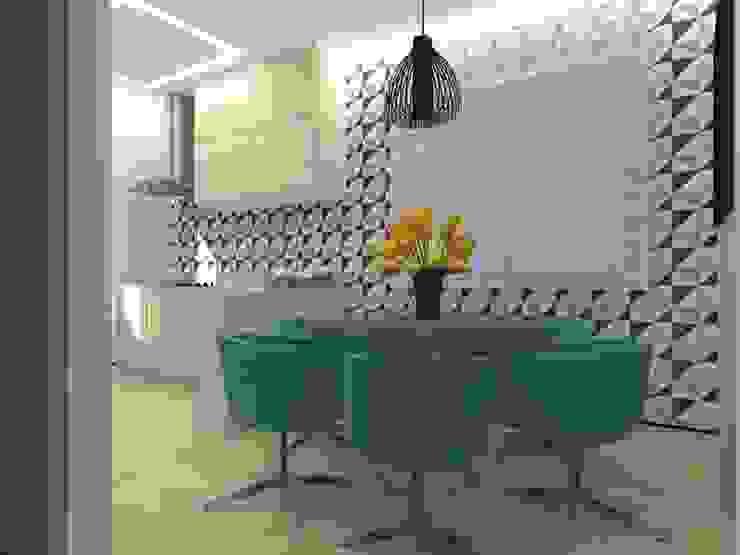 Cozinha CC Cozinhas modernas por Nádia Catarino - Arquitetura e Design de Interiores Moderno Madeira Efeito de madeira