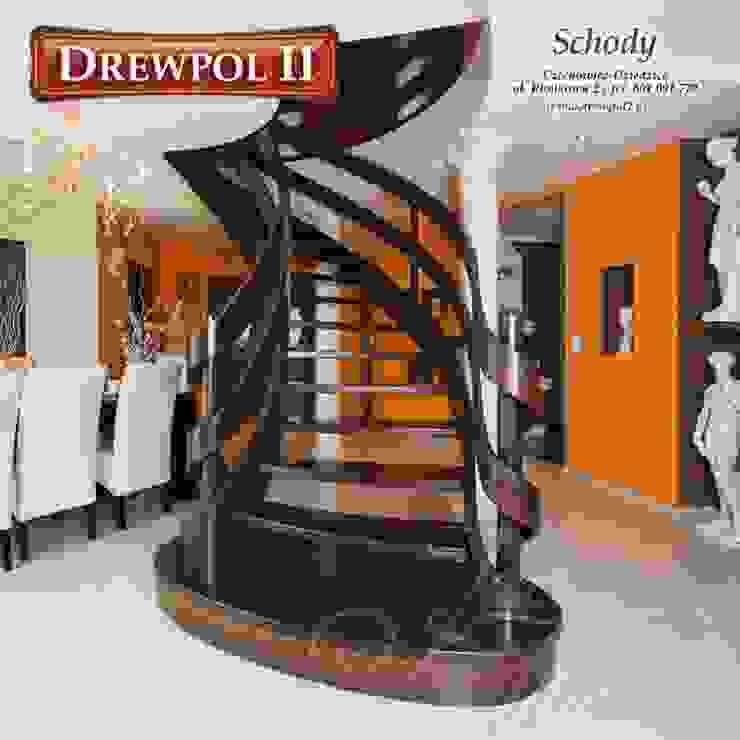 Schody Drewniane Drewpol II Klasyczny salon od Drewpol II Klasyczny
