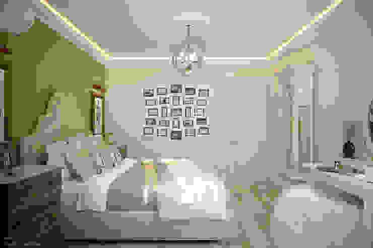 Dormitorios mediterráneos de Студия интерьерного дизайна happy.design Mediterráneo