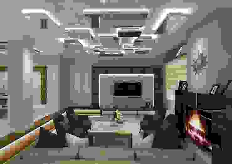 غرفة المعيشة تنفيذ PRATIKIZ MIMARLIK/ ARCHITECTURE,