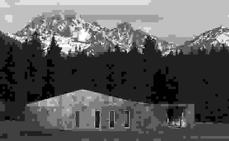 Dom w górach Minimalistyczne domy od QCA Minimalistyczny Beton