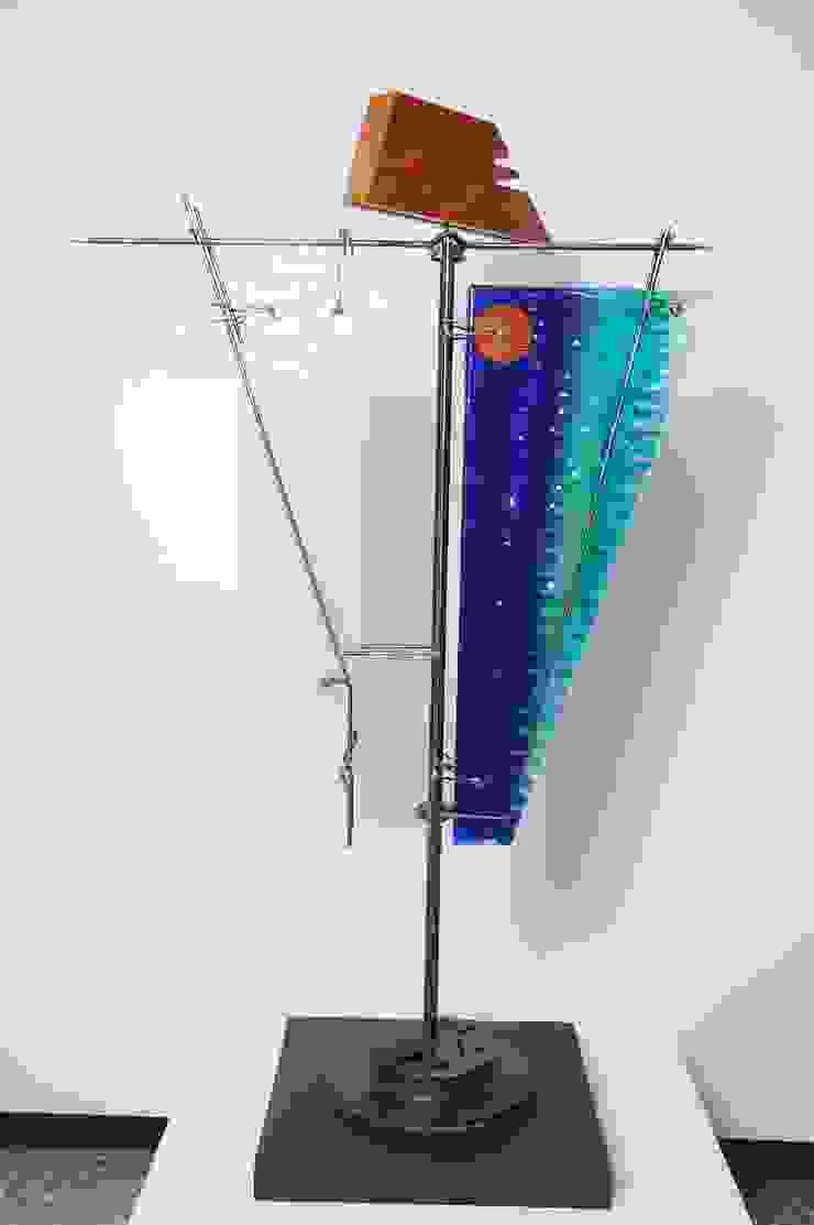 Escultura ''Poder en Equilibrio'' Indigo Glass Art ArteEsculturas Vidrio Multicolor
