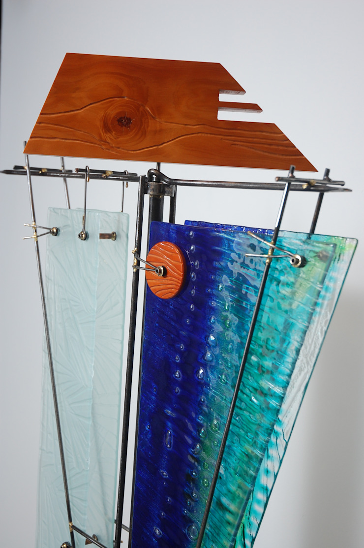 Escultura ''Poder en Equilibrio'' Indigo Glass Art ArteEsculturas Metal Multicolor
