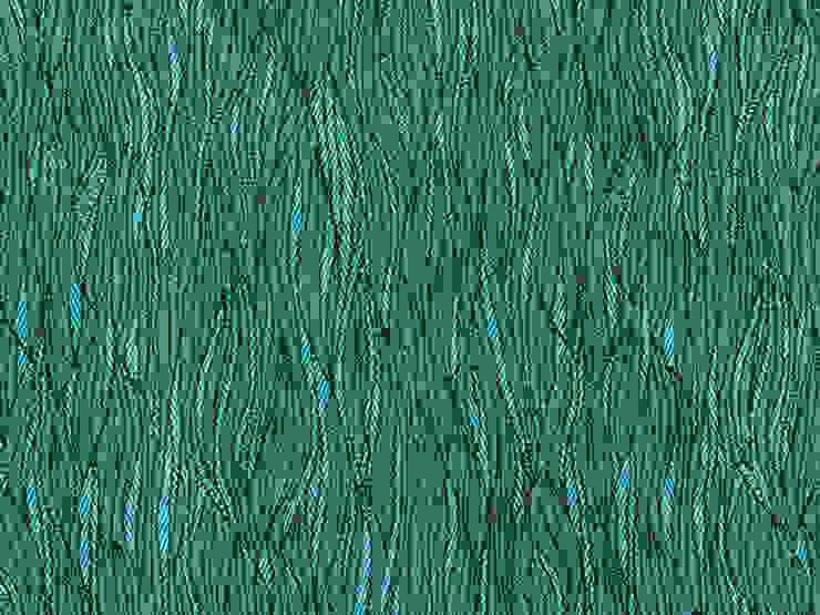 Baobab Calipso de Nua Colección Moderno Textil Ámbar/Dorado