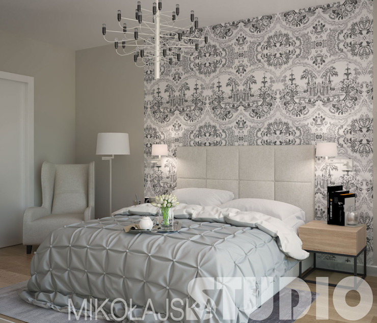Sypialnia-Elegancka od MIKOŁAJSKAstudio
