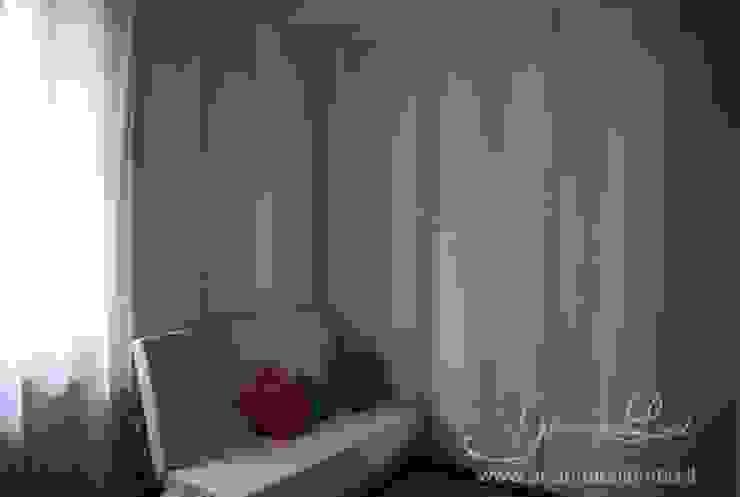 Parete rigata multicolor per la cameretta Ghirigori Lab di Arianna Colombo Camera da letto in stile rustico