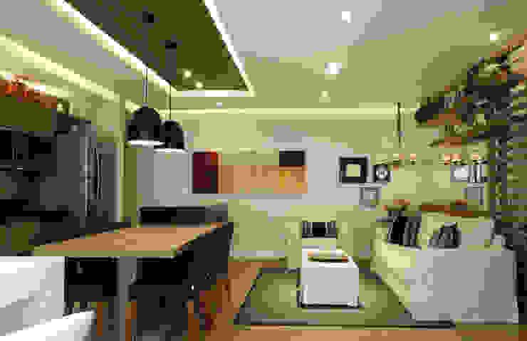 Projekty,  Salon zaprojektowane przez Studio 262 - arquitetura interiores paisagismo, Nowoczesny