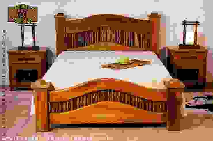 ห้องนอน โดย la tienda del mueble rustico ,