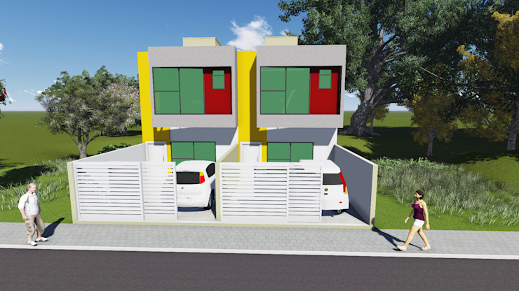 Residência geminada vale das palmeiras macaé – rj Casas de estilo moderno de Ian Wyatt Arquitetura Moderno