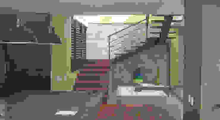 Casa Riveros Pasillos, vestíbulos y escaleras de estilo moderno de Arquitectura MGC Moderno