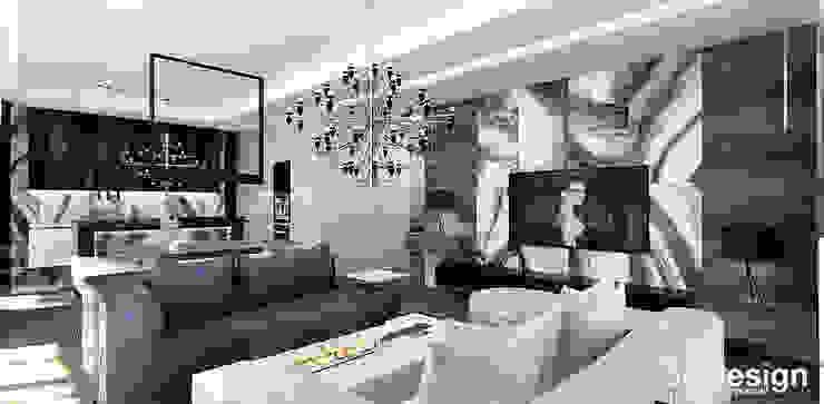 projekt wnętrza salonu w apartamencie Nowoczesny salon od ARTDESIGN architektura wnętrz Nowoczesny