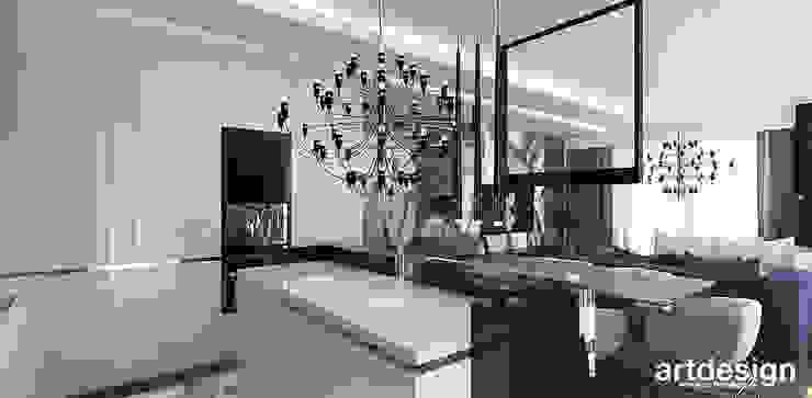 elegancka, nowoczesna kuchnia z wyspą Nowoczesna kuchnia od ARTDESIGN architektura wnętrz Nowoczesny