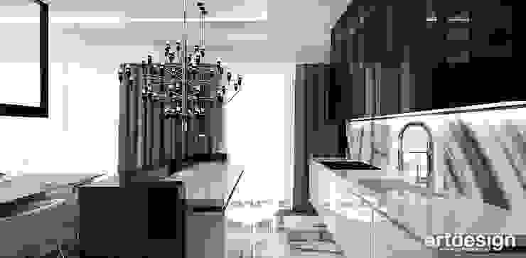 LOOK #33   Apartament Nowoczesna kuchnia od ARTDESIGN architektura wnętrz Nowoczesny