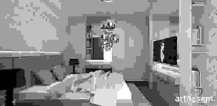 LOOK #33   Apartament Nowoczesna sypialnia od ARTDESIGN architektura wnętrz Nowoczesny