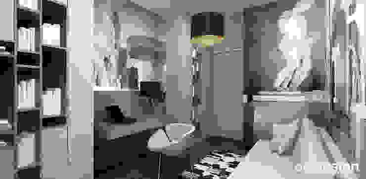 LOOK #33   Apartament Nowoczesne domowe biuro i gabinet od ARTDESIGN architektura wnętrz Nowoczesny