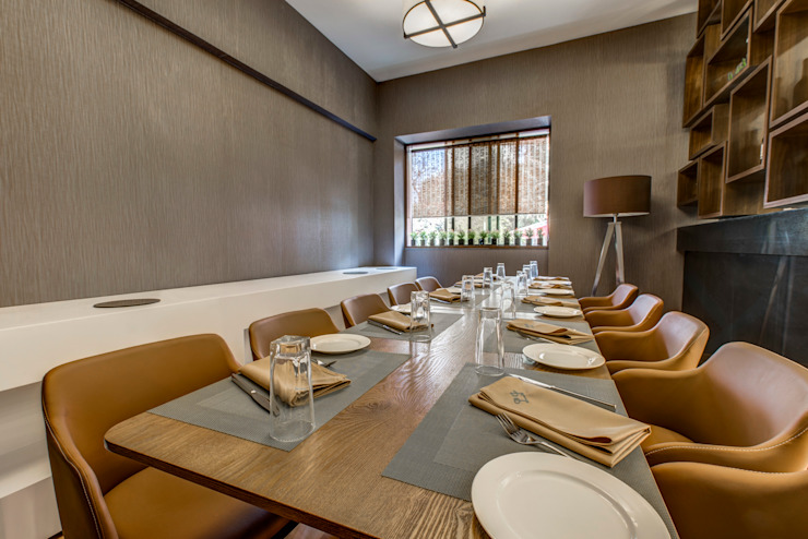 Little Italy Pune Asian style dining room by Aijaz Hakim Architect [AHA] Asian