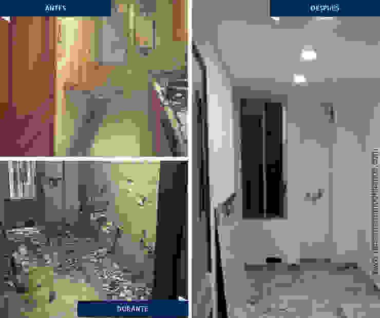 Proyectos Remodelación Pasillos, vestíbulos y escaleras de estilo moderno de Nosotros Remodelamos Moderno