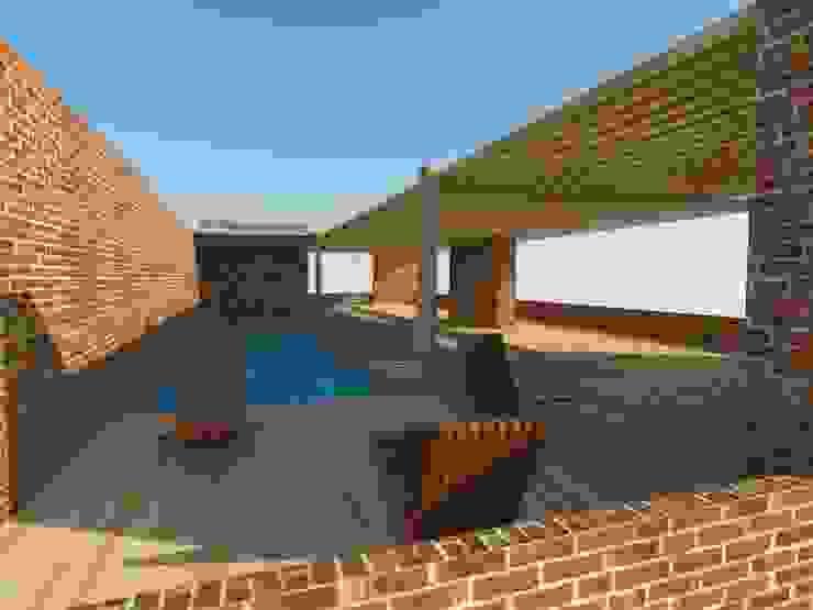 Decks en madera Piscinas de estilo moderno de Arquimaderas Moderno
