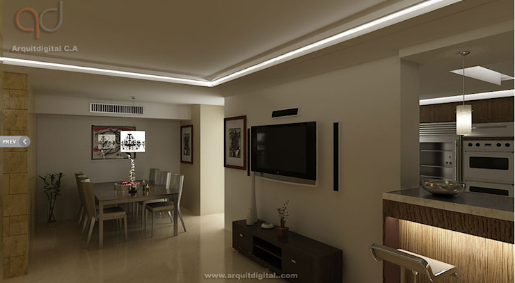 Proyectos Arquitdigital Salas de estilo moderno
