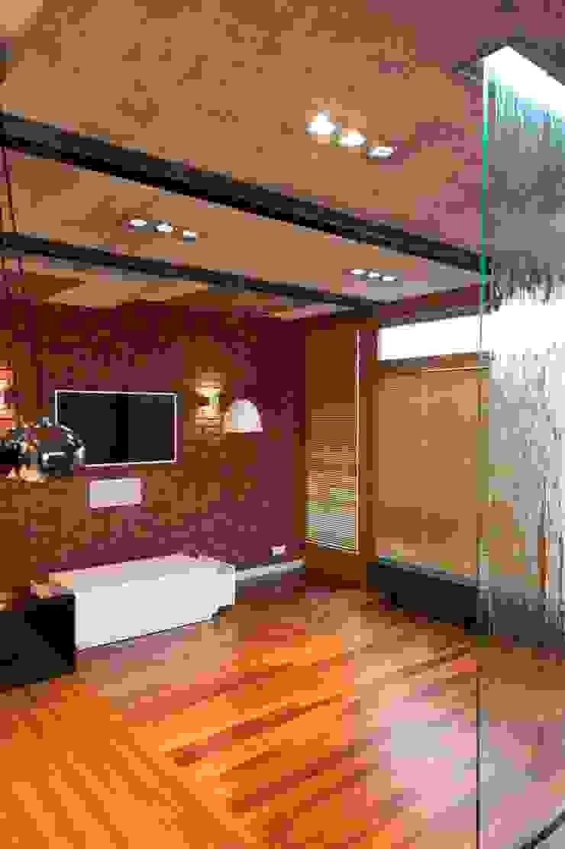 19 Dzielnica Nowoczesny salon od FusionDesign Nowoczesny Beton