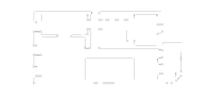 Apartamento no Restelo Paredes e pisos modernos por phdd arquitectos Moderno