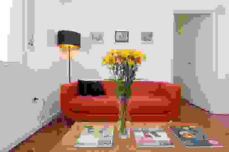 Larrea Apartamento: Livings de estilo  por Ballesteros   Arquitectos