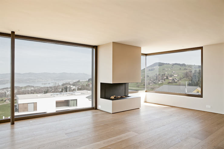 meier architekten zürich Living roomFireplaces & accessories