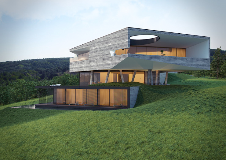 Авторское архитектурное решение. Вилла Condor Дома в стиле минимализм от A-partmentdesign studio Минимализм Бетон