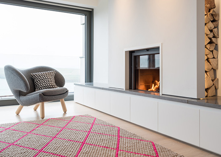 New Contemporary House, Polzeath, Cornwall Modern living room by Arco2 Architecture Ltd Modern