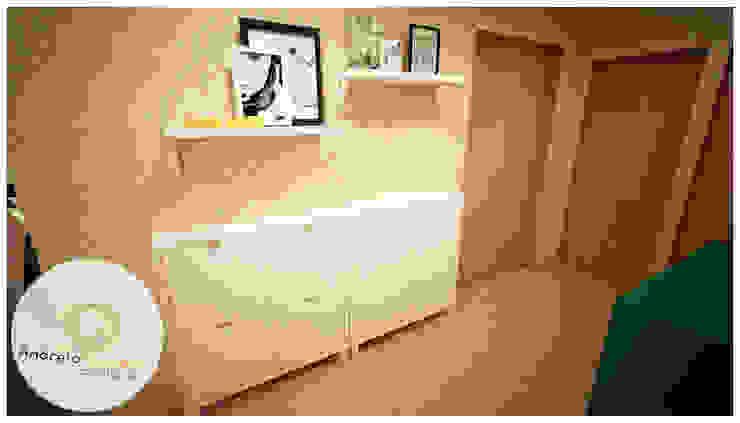 Andreia Louraço - Designer de Interiores (Email: andreialouraco@gmail.com) Korytarz, hol i schodyMeble do przechowywania Żółty