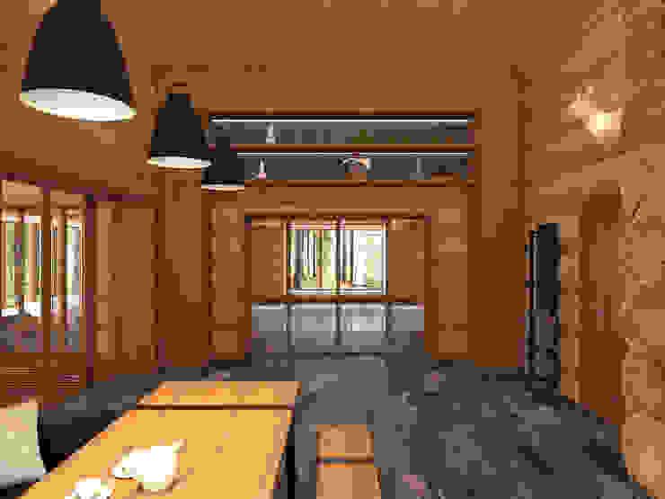 Scandinavian style dining room by A-partmentdesign studio Scandinavian Wood Wood effect