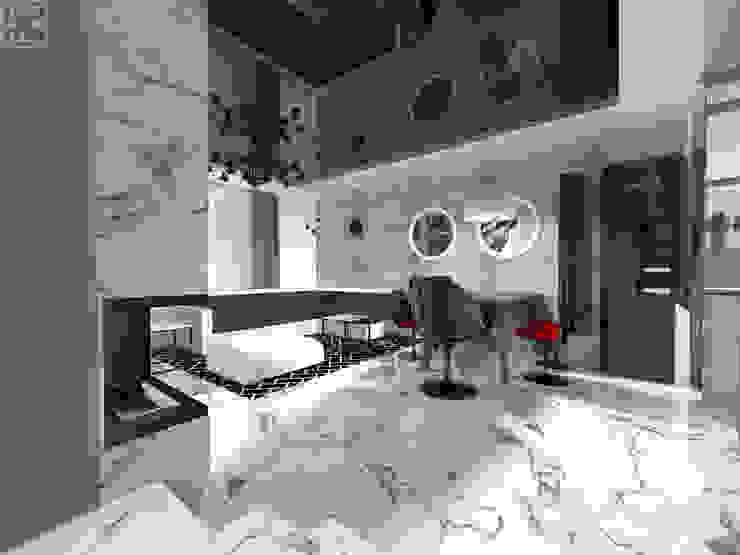 Modern living room by IDEALNIE Pracownia Projektowa Modern