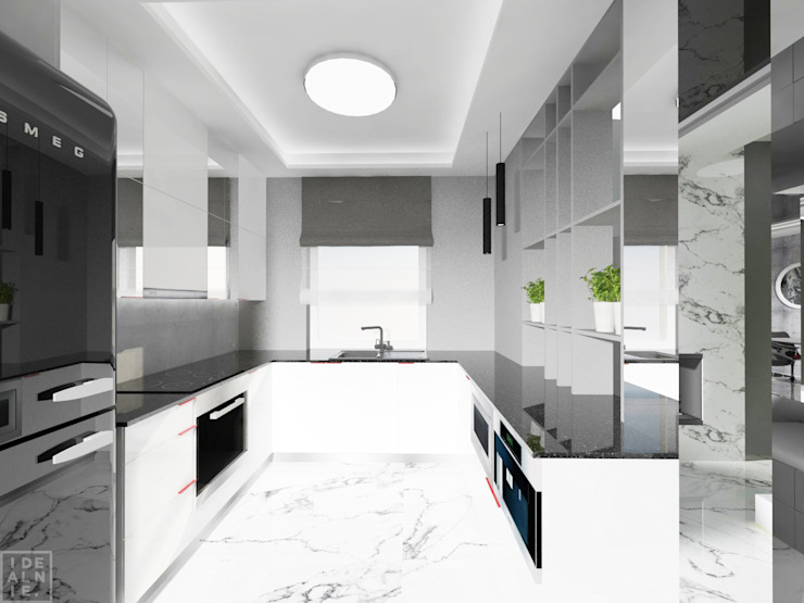 Cocinas modernas de IDEALNIE Pracownia Projektowa Moderno