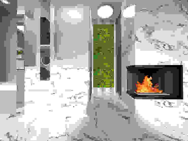 Modern Corridor, Hallway and Staircase by IDEALNIE Pracownia Projektowa Modern