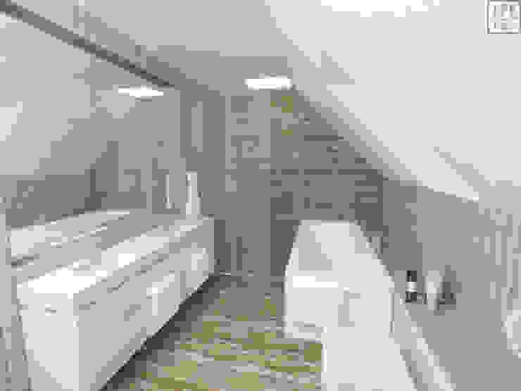 Baños de estilo moderno de IDEALNIE Pracownia Projektowa Moderno