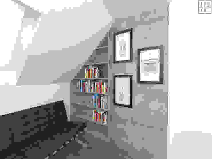 Estudios y despachos de estilo moderno de IDEALNIE Pracownia Projektowa Moderno